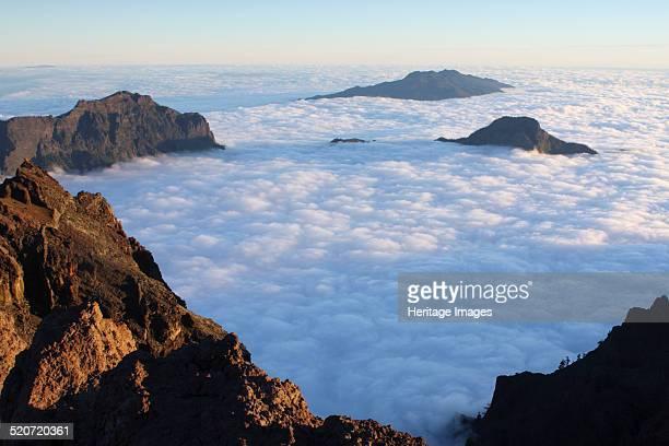 Parque Nacional de la Caldera de Taburiente La Palma Canary Islands Spain 2009 Cloud filling the caldera