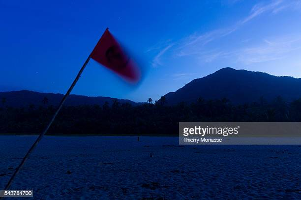 Parque Nacional Natural Tayrona Magdalena State Colombia August 19 2015 Night in the beach of the Tayrona National Natural Park is a protected area...