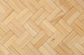 parquet beech herring-bone pattern as background