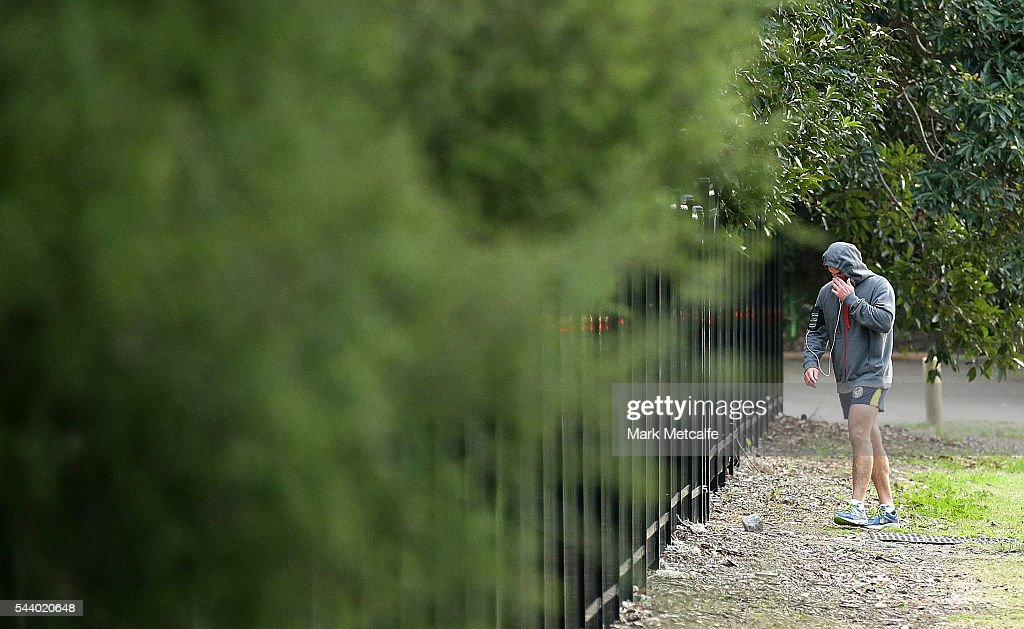 Parramatta Eels NRL coach Brad Arthur arrives for a Parramatta Eels training session at the Eels Training Centre on July 1, 2016 in Sydney, Australia.