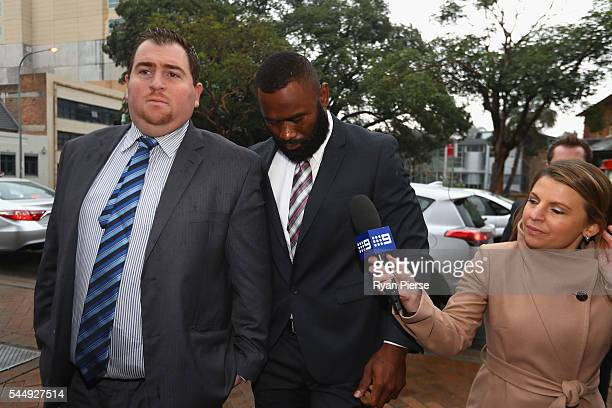 Parramatta Eels NRL player Semi Radradra arrives at Parramatta Civil Court on July 5 2016 in Sydney Australia Radradra has been charged with domestic...