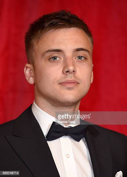 Parry Glasspool arrives for the British Soap Awards 2016 at the Hackney Town Hall Assembly Rooms on May 28 2016 in London England