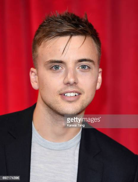Parry Glasspool attends the British Soap Awards at The Lowry Theatre on June 3 2017 in Manchester England