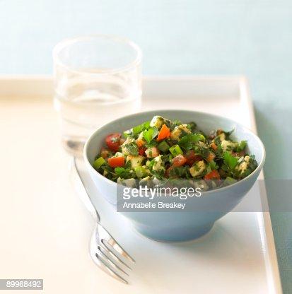 Parsley and mozzarella salad : Stock Photo