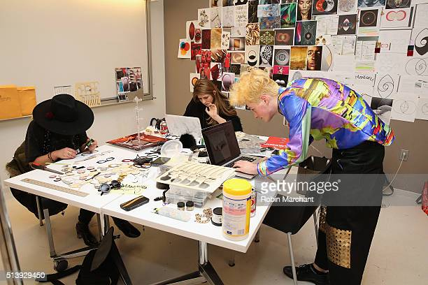 Parsons students prepare at MasterCard and Parsons Fashion and Design Hack Challenge Teams of three students competed in a live challenge to create a...