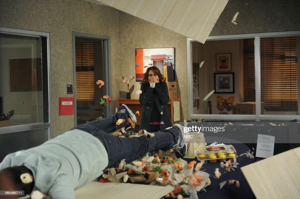 30 ROCK -- 'Part 1: Hogcock! Part 2: Last Lunch' Episode 712/713 -- Pictured: (l-r) John Lutz as Lutz, <a gi-track='captionPersonalityLinkClicked' href=/galleries/search?phrase=Tina+Fey&family=editorial&specificpeople=206753 ng-click='$event.stopPropagation()'>Tina Fey</a> as Liz Lemon --