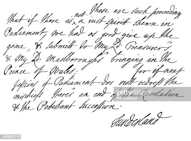 Part of a letter written by Charles Spencer 3rd Earl of Sunderland 1678 The letter is dated 9 August 1678 and is addressed to John Holles 3rd Duke of...