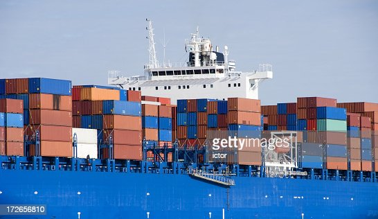 Part of container ship : Stock Photo