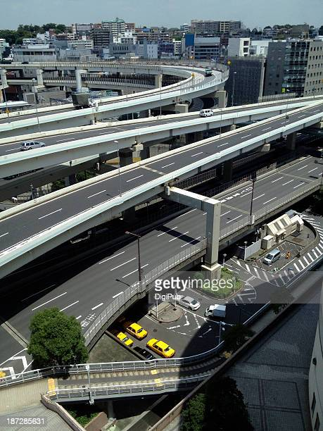 Part of flyover and road system