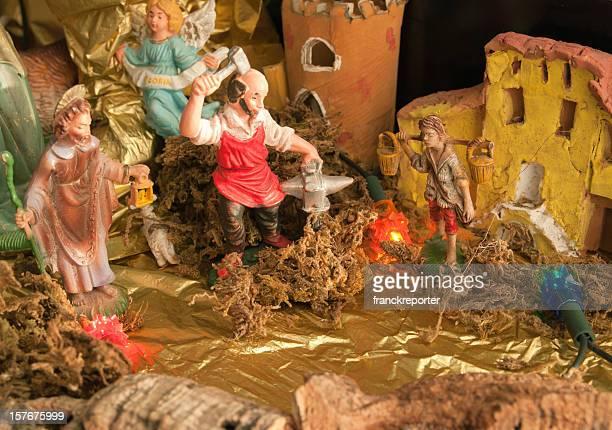Part of Nativity Scene Christmas crib