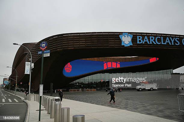 Part of the Barclays Center arena at the site known as the Atlantic Yards in Brooklyn is viewed on October 11 2013 in New York City A Chinese company...