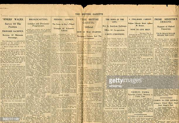 Part of The British Gazette 13 May 1926