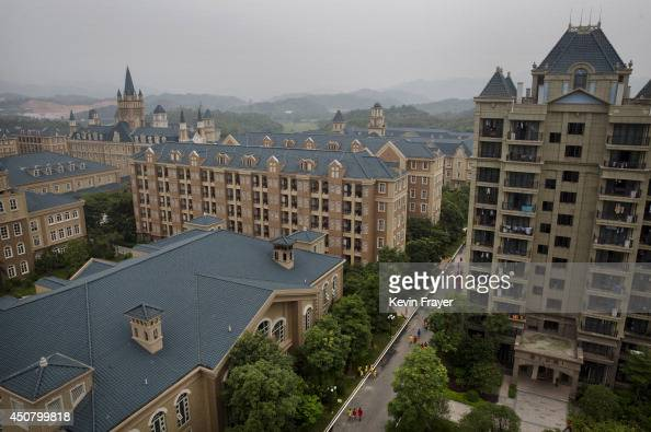 Part of the campus is seen at the Evergrande International Football School on June 12 2014 near Qingyuan in Guangdong Province China The sprawling...