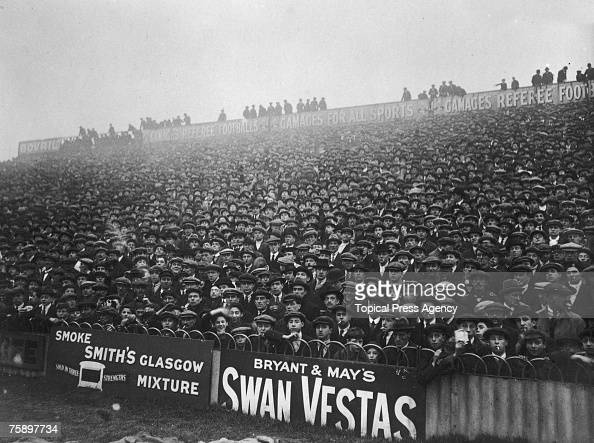 Part of the crowd at White Hart Lane London watching Tottenham Hotspur play the visiting team Bristol Rovers January 1921