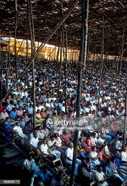 Part of the crowd in a temporary stand 3rd Test India v England Madras January 197677