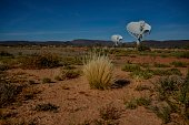 Part of the ensemble of dishes forming South Africa's MeerKAT radio telescope is seen in Carnarvon on July 16 2016 Even operating at a quarter of its...