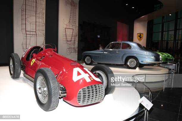 Part of the Ferrari museum is the new Ferrari Land at Port Aventura World on April 6 2017 in Tarragona Spain