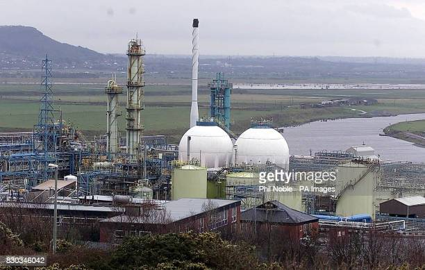 Part of the ICI chemical works at Runcorn Cheshire following a chemical leak that released about18 tons of hydrogen chloride gas into the atmosphere...