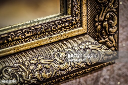 Part of the mirror frame : Stock Photo