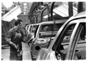 Part of the production line at the General Motors plant in St Terese Quebec Canada 1969