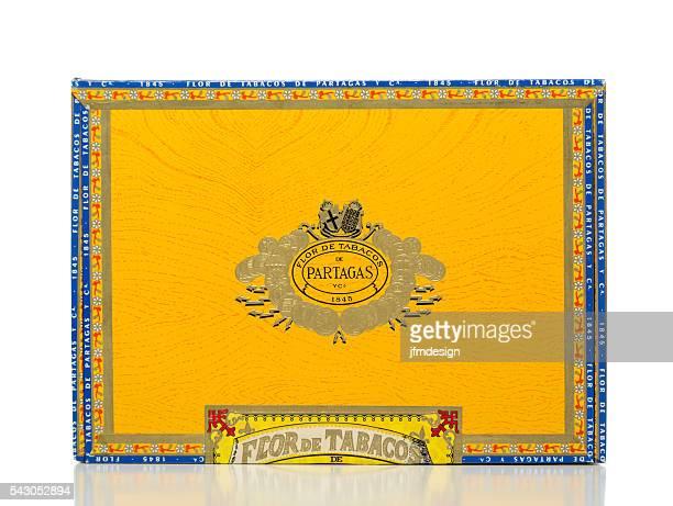Partagas gelbe Zigarrenschachtel der Vorderseite