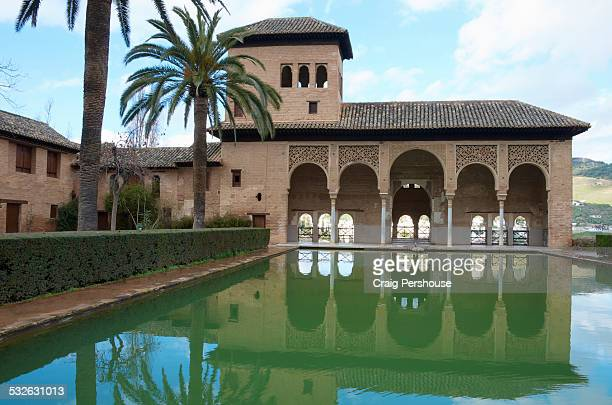 Partal Palace and pool in Partal Gardens
