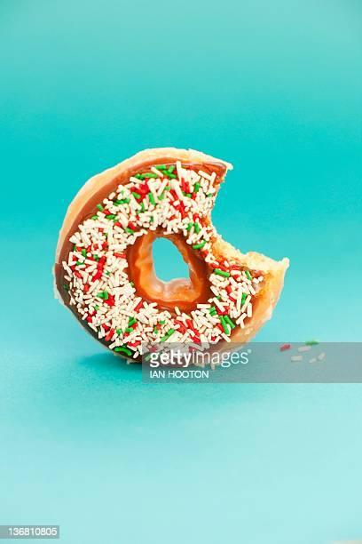 Part-eaten doughnut