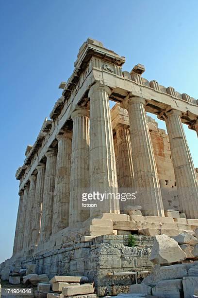 parthenon on acropolis mountain