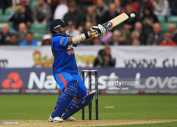 Parthiv Patel of India edges the ball towards the boundary during the 1st NatWest One day International Series match between England and India at The...