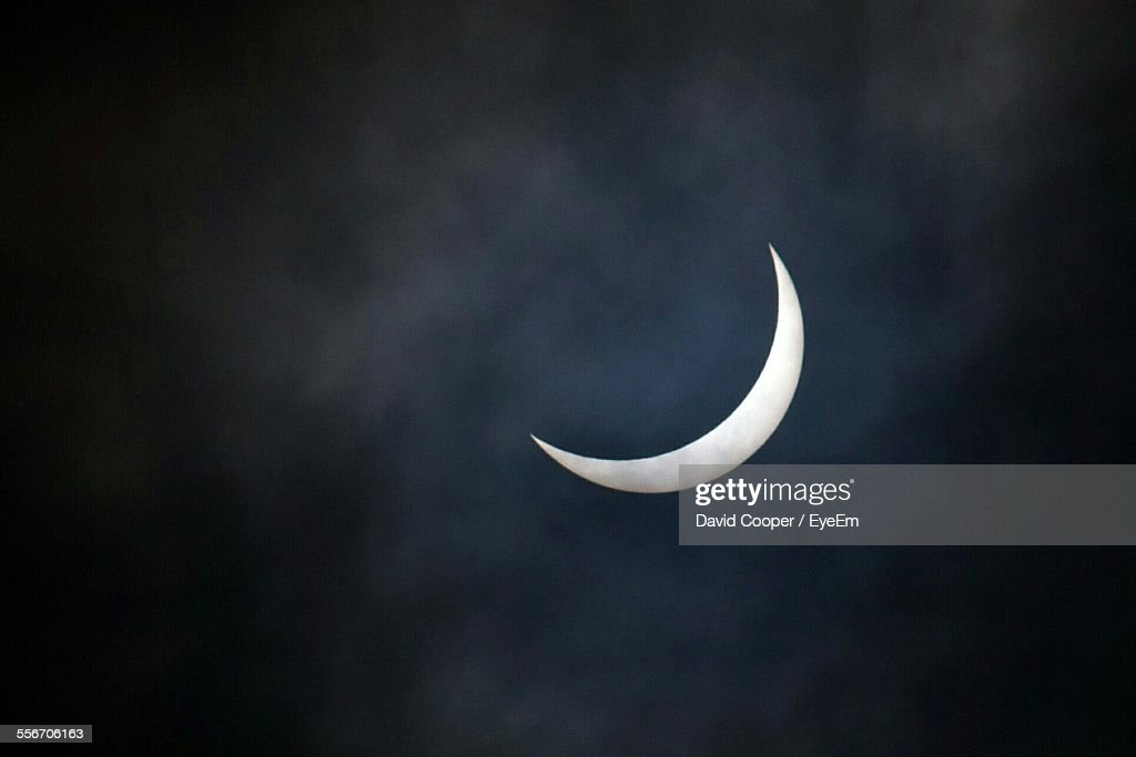 Partial Phase Of Solar Eclipse In Sky