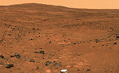 November 23-24, 2005 - Partial Seminole Panorama.  This view from Spirit's panoramic camera is assembled from frames acquired on Martian days, or sols, 672 and 673, from the rover's position near an o