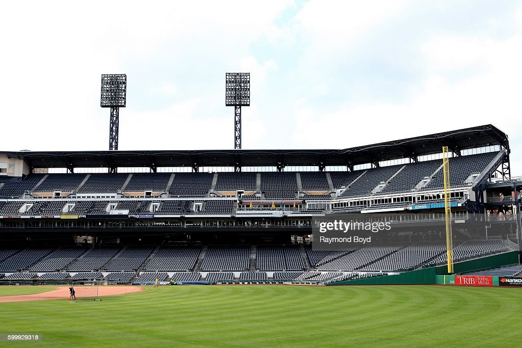 Partial View Inside PNC Park Home Of The Pittsburgh Pirates Baseball Team In