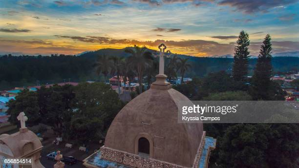Partial view of Church belfry of Naranjo - Costa Rica