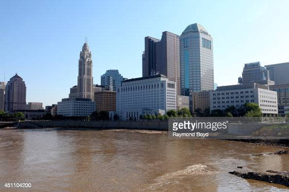 Partial view of Columbus Skyline on May 18 2014 in Columbus Ohio