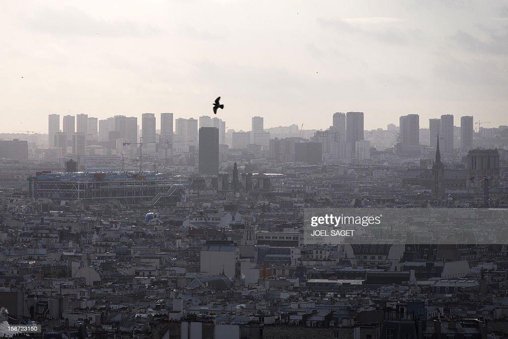Partial view of Paris taken on December 26, 2012.