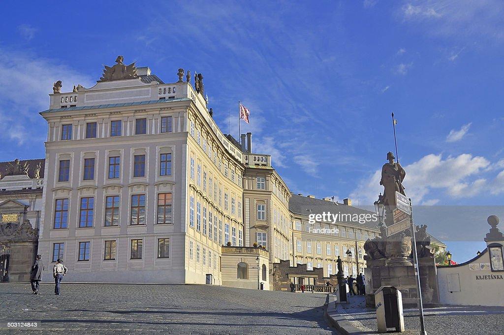 Partial view of Prague Castle