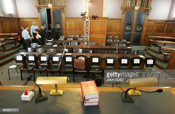 Partial view of the audience room at the Paris court 13 February 2007 before the second day audience of the first trial in France over a major...