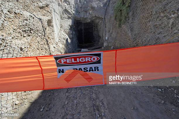 Partial view of the entrance of the collapsed San Jose mine near Copiapo 700km north of Santiago on August 4 2011 Next August 5 marks the first...