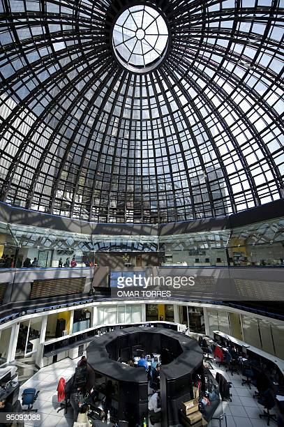Partial view of the Mexican stock market in Mexico City on November 25 2009 Mexico's economy was particularly badly hit by the global crisis due to...
