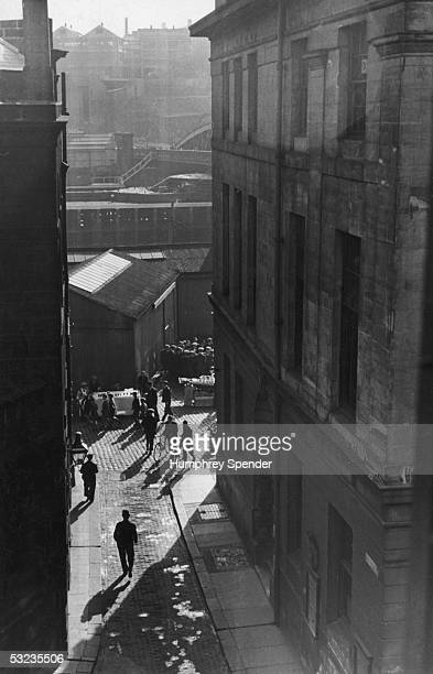 A partial view of the Newcastle quayside market on a sunday morning 17th December 1938 Original Publication Picture Post 38 Tyneside pub 1938