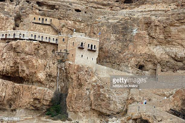 A partial view shows the historic buildings of Jericho during celebrations on October 10 2010 marking the 10000th anniversary of the founding of the...