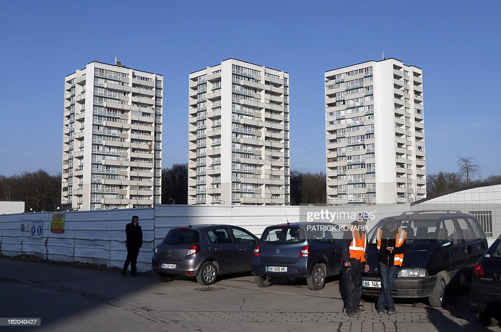 Partial view taken of the La Forestiere housing estate in Clichy-sous-Bois, northern suburb of Paris, on February 18, 2013. AFP PHOTO / PATRICK KOVARIK