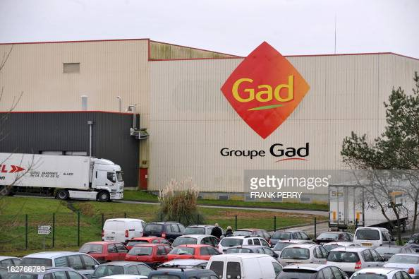 A partial view taken on February 26 2013 shows the Gad pigslaughtering plant in Josselin western France some days after the volontary liquidation by...