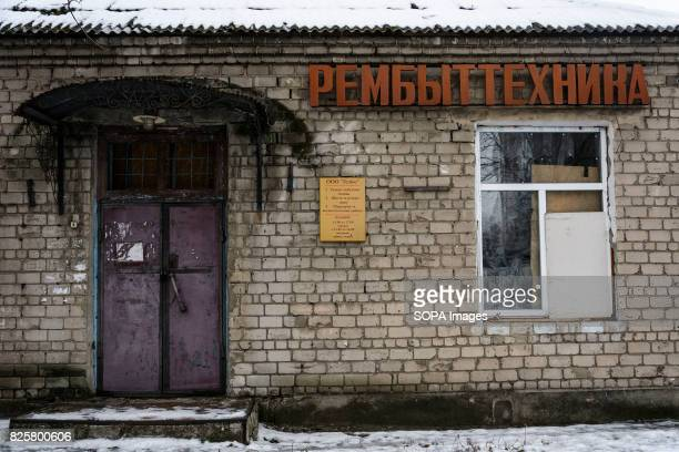 Partially and fully destroyed houses is seen all along the frontline in the Donetsk region With local economies on the brink of collapse aid helps to...
