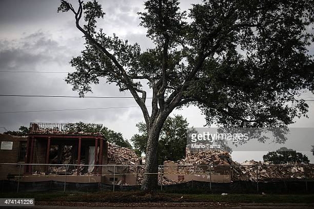 Partially demolished buildings of the BW Cooper housing projects are shown on May 12 2015 in New Orleans Louisiana The projects were damaged by...
