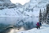 Partially Frozen Lake