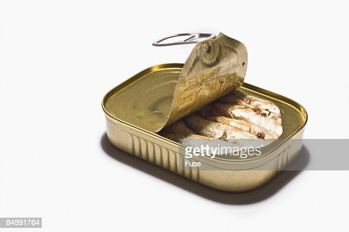 Partially Opened Sardine Can