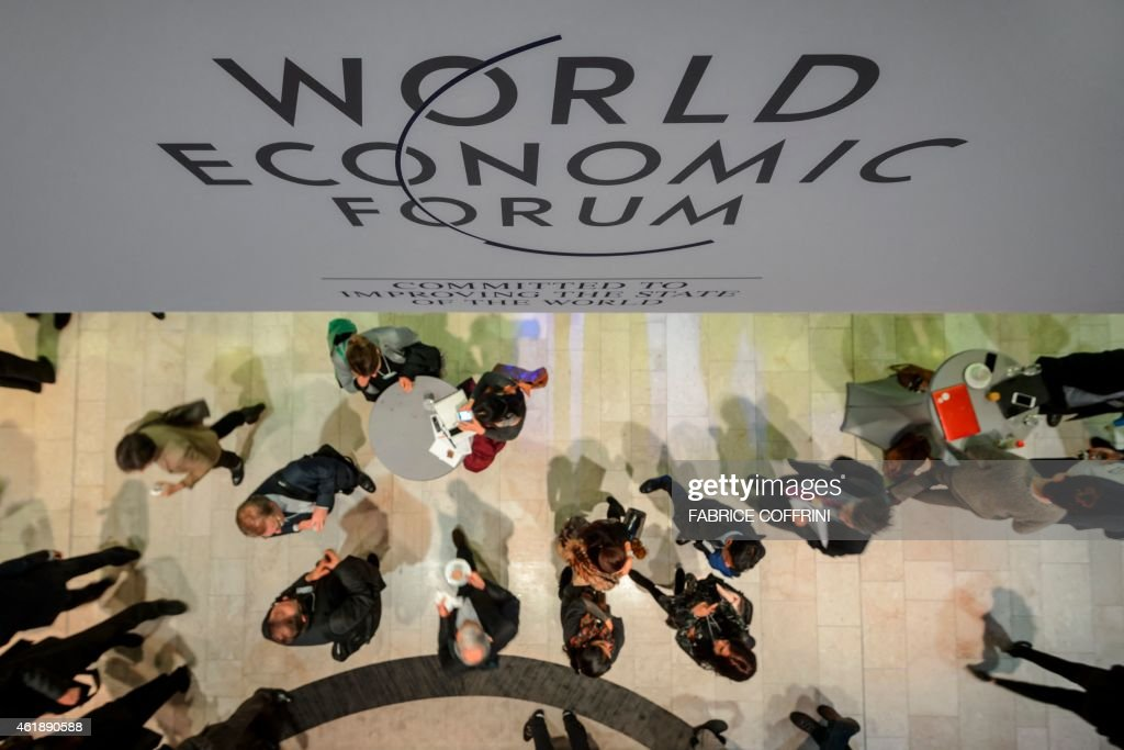 Participant are seen at the Congress Center during the World Economic Forum annual meeting on January 21 2015 in Davos Top economists in Davos...