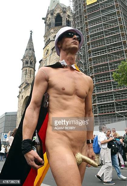 A participant attends the Christopher Street Day gay parade in Berlin on June 27 2015 AFP PHOTO / ADAM BERRY