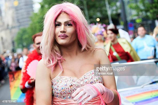 A participant attends the Christopher Street Day parade on June 27 2015 in Berlin Germany Similar marches are taking place in various cities around...